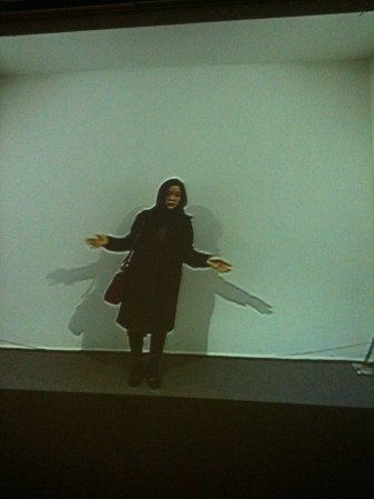 An interactive film installation in one of Seoul's contemporary art museums. This show featured digital installations and sculptures.