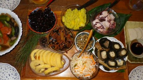 Osechiryori, or traditional New Year's dishes.