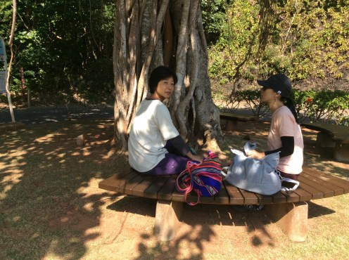 The ever-lovely Sanae and Fumi, my closest friends on the island, besides the Shimizu family.
