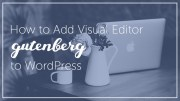 How to Add GUTENBERG Visual Editor to WordPress