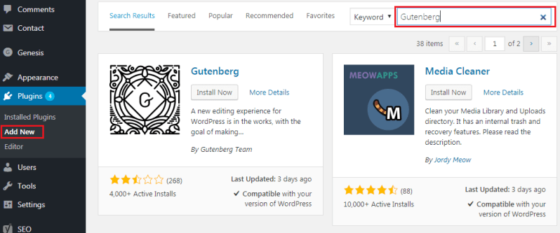 How to Add GUTENBERG Visual Editor to WordPress - Install Gutenberg