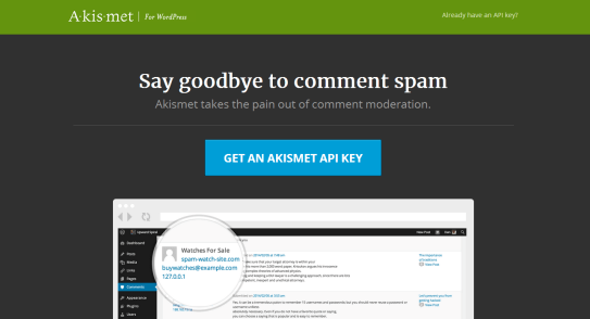 How to STOP Spam Submission on Your Blog - Get an Akismet API Key