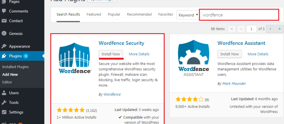 How to Secure Your WordPress Website - Wordfence Security Plugin Installation