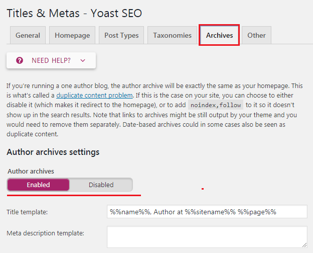 How to do WordPress SEO technically (OnPage Guide) Titles & Metas - Archives