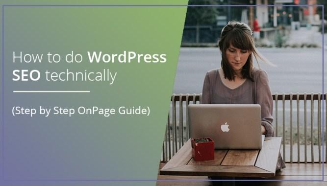 WordPress SEO technically