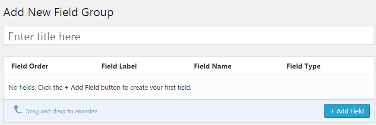 Adding A New Field Group Using Advanced Custom Field