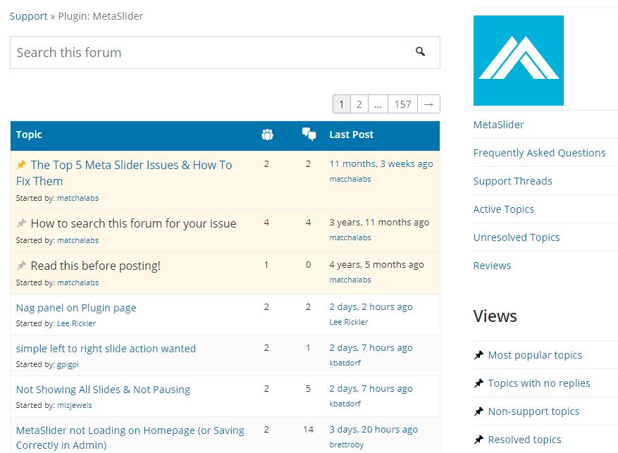 Meta Slider Free Version Supports on WordPressOrg