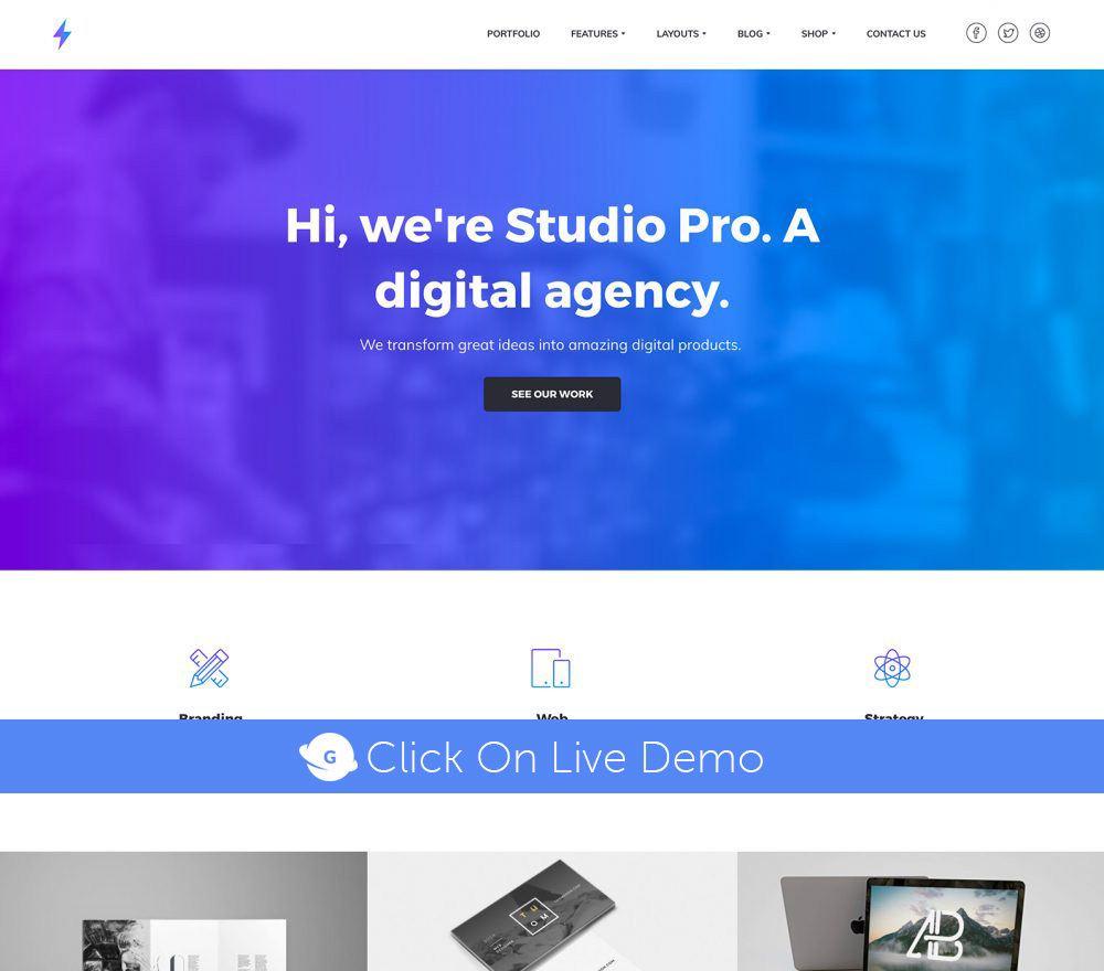 Studio Pro Theme Review