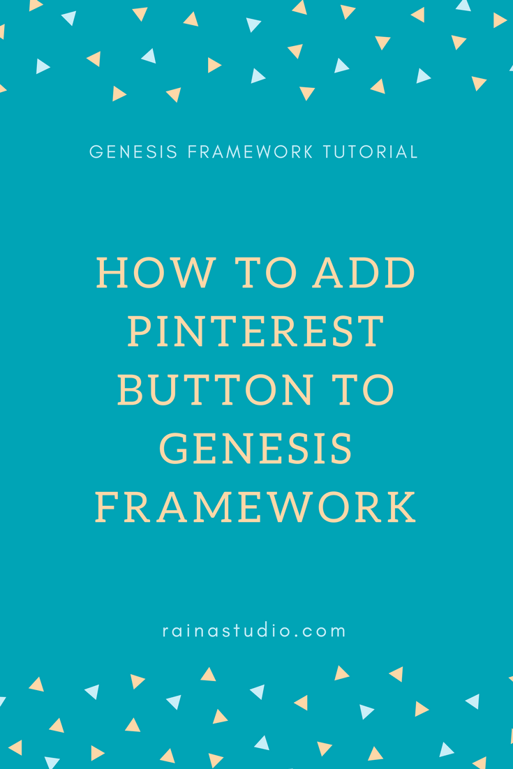 How to Add Pinterest Button to Genesis Framework