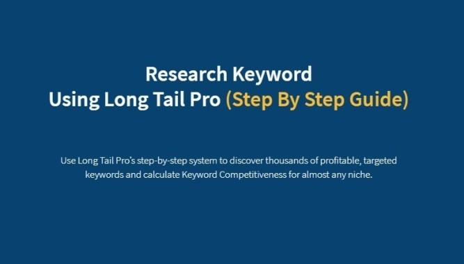 Research Keyword Using Long Tail Pro