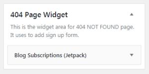 404 Page Widget
