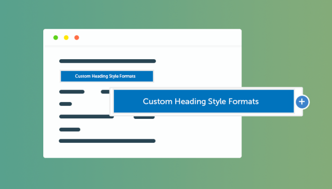 Custom Heading Style Formats