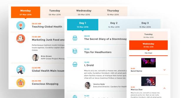 Responsive Event Scheduler for WordPress