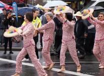 pink ladies dancing parade