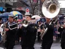 Navy brass band parade