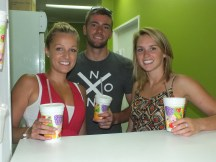 Ashten, Bronson and Amanda at the Juice Bar