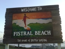 Oh hai there, new Fistral Beach signs...I like you