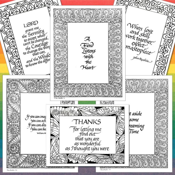 Bordered Quotes and Cards