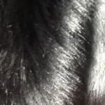 Mink pels svart 1,60 m bredde