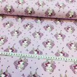 Bomullsjersey  med rosa kaniner