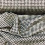 Tynn ull med ruter grå