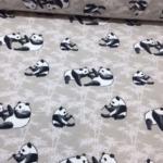 Bomullsjersy  panda