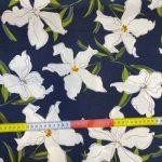 Viskose og lin hvit blomster