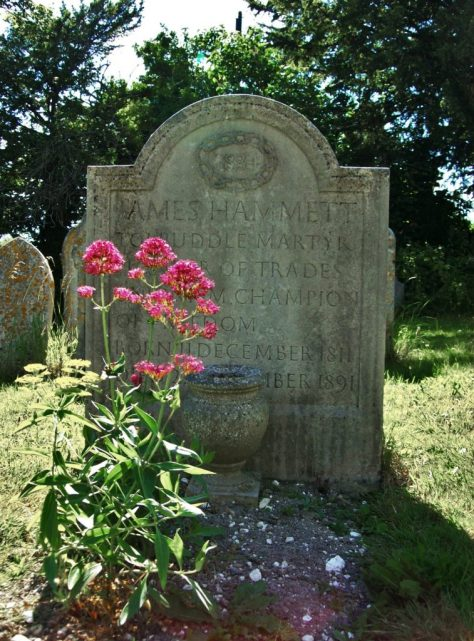 The grave of James Hammett, who was the only martyr to return and live in the village of Tolpuddle.