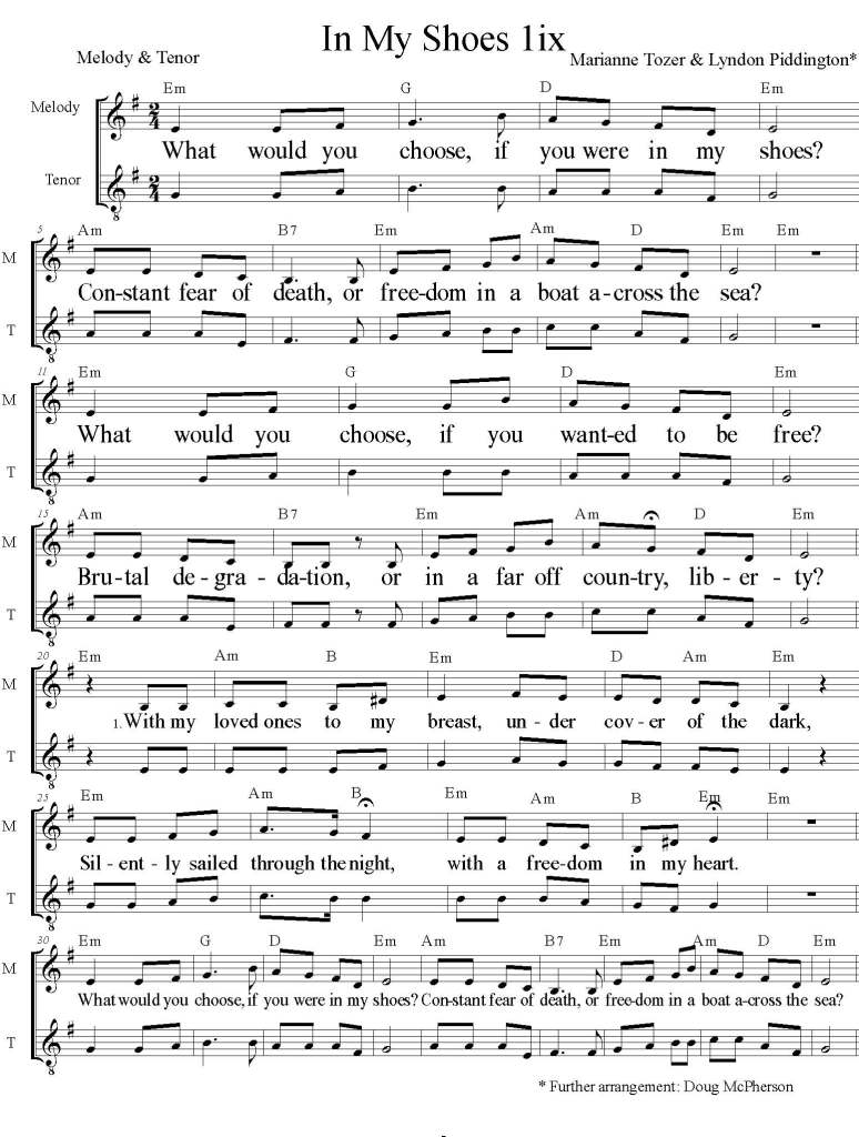 Im My Shoes Sheet Music Em Page 1