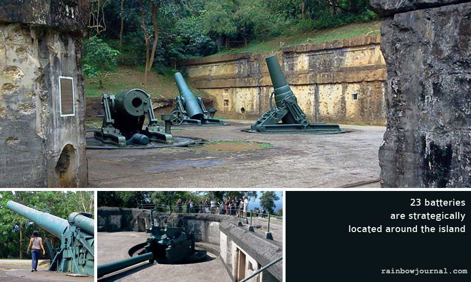 Batteries at Corregidor Island