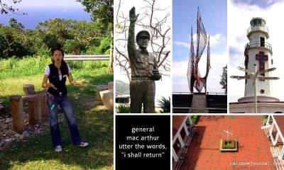 Our guide and some of the places visited at Corregidor Island during the day tour