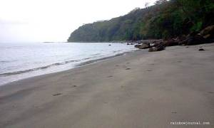 Beach just behind Corregidor Inn
