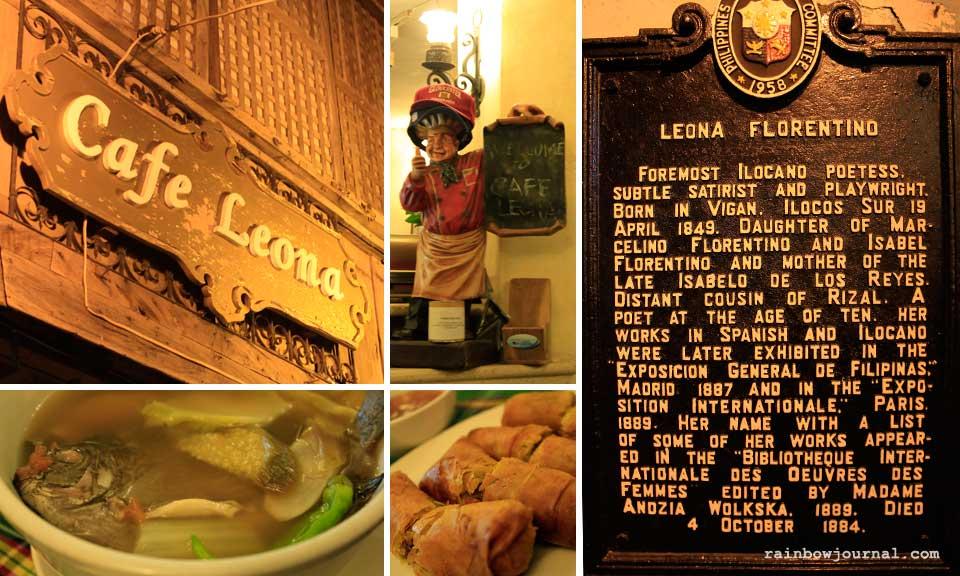 Cafe Leona at Vigan's Calle Crisologo