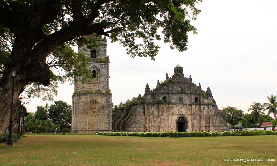 Construction of Paoay church was completed on 1710, and had been designated a UNESCO World Heritage Site on 1993