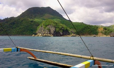 Boat ride view of Caramoan