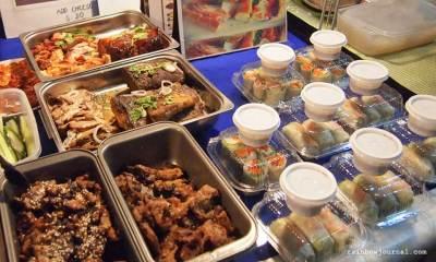 Vietnamese kiosk at Mercato Centrale night food market tent at the Fort Bonifacio Global City (BGC), Taguig