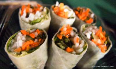 Vietnamese fresh spring roll Mercato Centrale night food market tent at the Fort Bonifacio Global City (BGC), Taguig