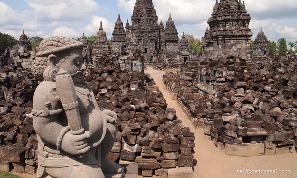 Candi Sewu at the Prambanan temple complex in Indonesia