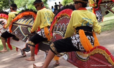 Trance dancing at the Prambanan temple complex in Indonesia