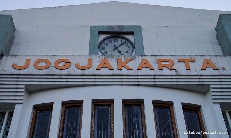 Yogyakarta or Tugu train station in Yogyakarta