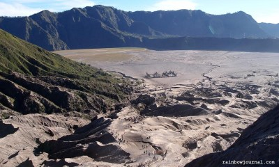 Mt. Bromo's crater in Indonesia