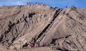 Stairs to Mt. Bromo's crater in Indonesia