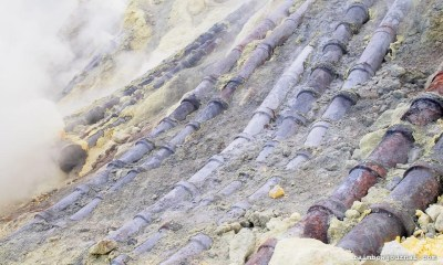 Sulfur Collection at Kawah Ijen in Indonesia