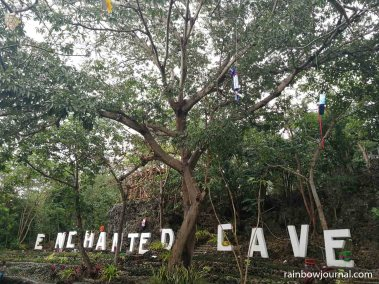This is what greets you as soon as you enter Echnted Cave Resort, Bolinao