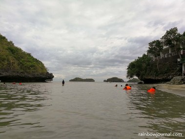 Water at Children's Island is surprisingly warm