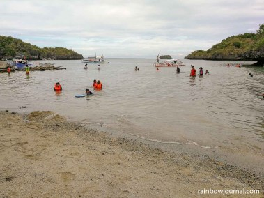 The shallow beach at Children's Island is perfect for kids