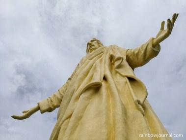 The 56-foot Christ statue on Pilgrimage Island