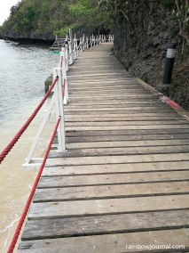 One of the many paths you can explore on Quezon Island