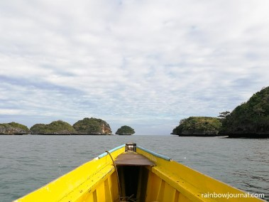 On our way to the snorkeling area near Marcos Island