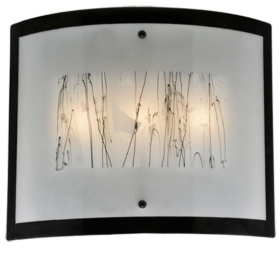 24 wide fused glass twigs glass wall sconce rct0 rainbow lighting